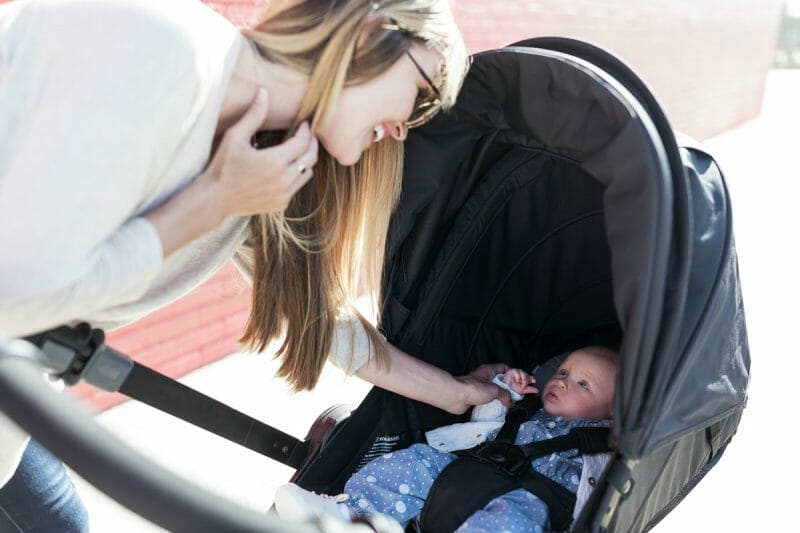 A reversible stroller makes days on the go so much easier for parents.