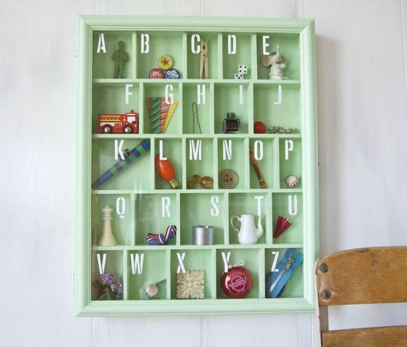 alphabet shadow box
